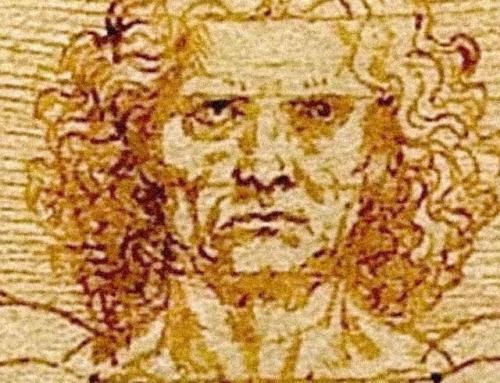 Leonardo e o Homem Vitruviano em Veneza